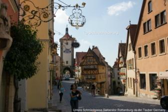 Untere Schmiedgasse und Sieberstor Rothenburg ob der Tauber